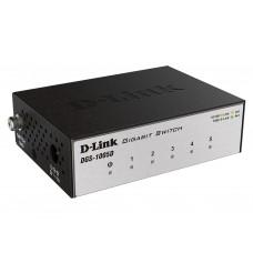 D-Link DGS-1005D/I3A с 5 портами 10/100/1000Base-T